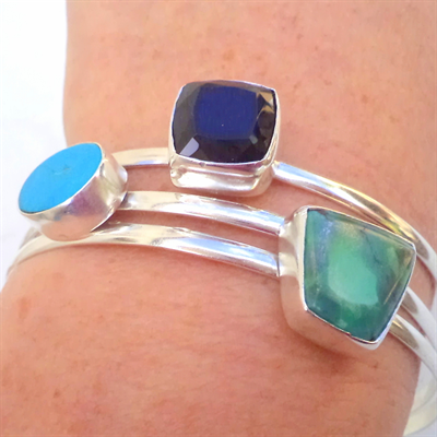 Gemstone stacking bracelet s~ price per bracelet