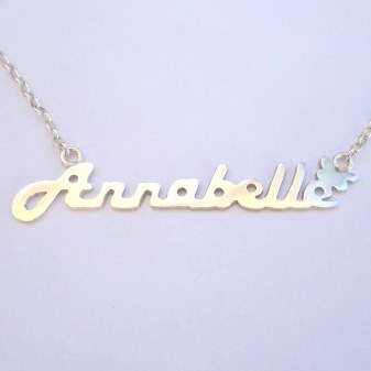 Long name necklace cutout customized