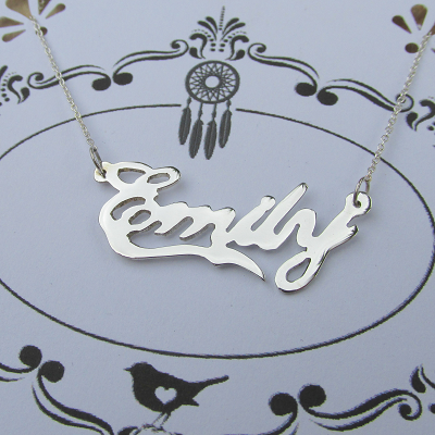 Name necklace cutout customized