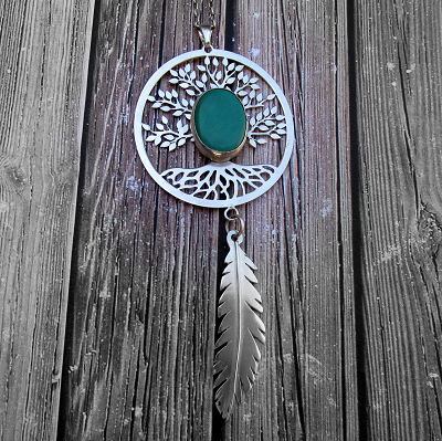 Large turquoise dream catcher